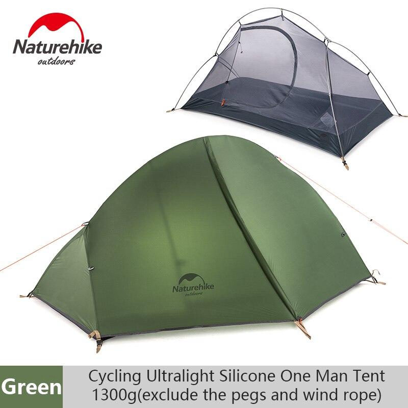 Naturehike ao ar livre única barraca ultraleve dupla-camada de acampamento profissional equitação selvagem tenda anti-tempestade