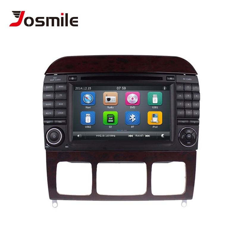 Lecteur multimédia de voiture josourire 2 Din DVD Automotivo pour Mercedes/Benz/W220/W215/S280/S320/S350/S400 S classe GPS Radio Navigation