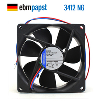 חדש ebmpapst PAPST 3412NG 9225 12 V 2.2 W 9 CM 9 CM DC קירור מאוורר