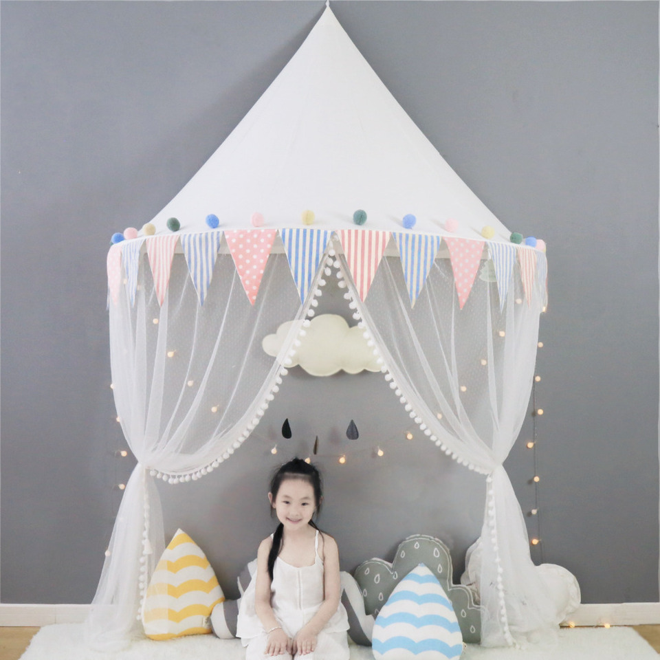 Kids Play House Tent Baby Mosquito Net Bed Canopy Portable Crib