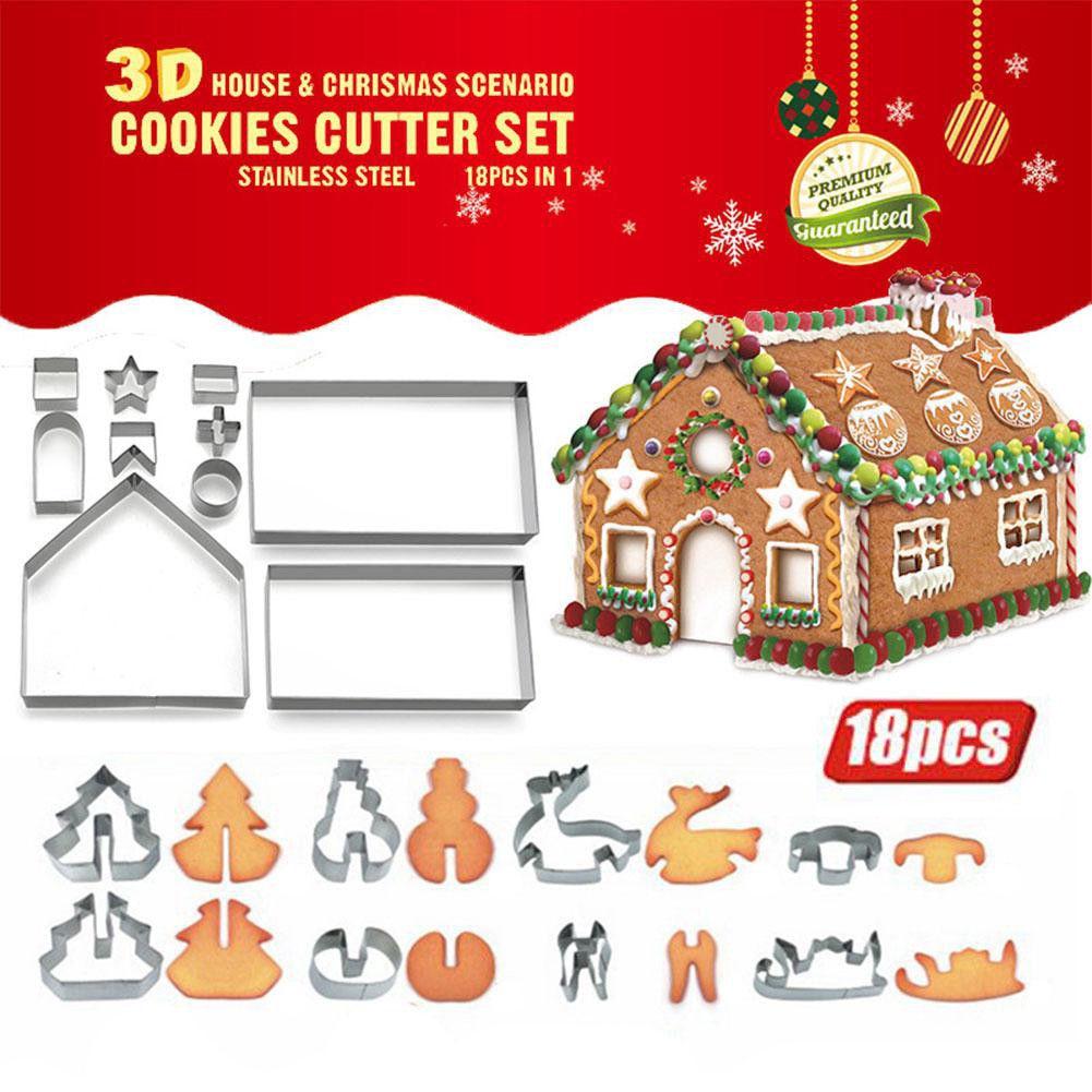 Escala 1:12 Molde Molde de pan de jengibre Casa De Muñecas En Miniatura De Alimentos