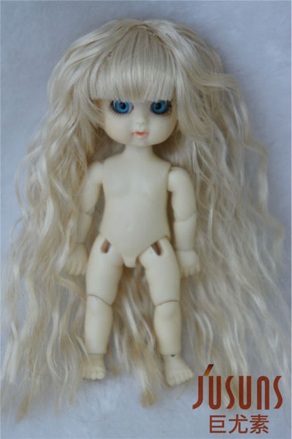 Tiny doll  wigs  9CM  Fairy suzub  wig for BJD Dolls Lovely Synthetic Fiber Wigs Kanekalon Fiber  wig for Resin and Vinyl doll