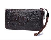 Genuine Leather Men Wallets Zipper Purse For Men Alligator Fashion Male Long Phone Coin Purse Unisex