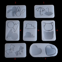 JAVRICK Hourglass Water Injection Mud Board Silicone Mold DIY Resin Jewelry Pendant Making NEW