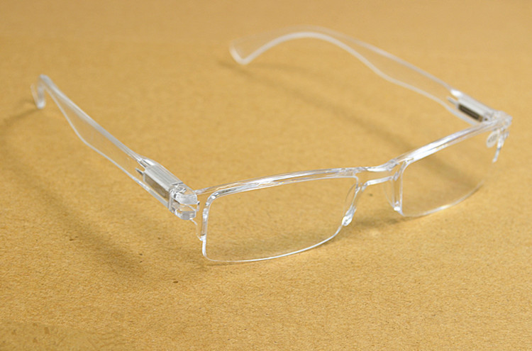 FIVE PAIRS Spring Leg Strachable New Fashion Plexi Glass Transparent Reading Glasses +1 +1.5 +2 +2.5 +3 +3.5 +4