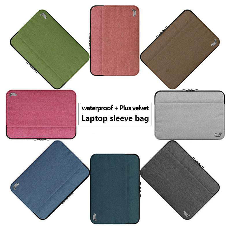 Canvas Sleeve Laptop Bag For Macbook Air 11 12 13 15 Inch Zipper Case - Նոթբուքի պարագաներ - Լուսանկար 3