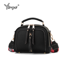 YBYT new fashion women patchwork leather shoulder bags zipper decorative crossbody bag luxury handbags designer