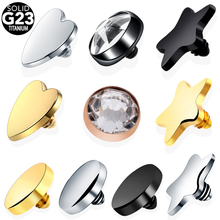 G23 Titanium Mirco Dermal Piercings Micro Anchor Threading Top Skin Diver Hide in Surface Body Jewelry