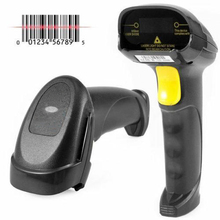 Free shipping Wired Barcode Scanners Portable Laser Reader Handheld USB Bar Code Scanner RS232 Reader Barcode Reading Gun