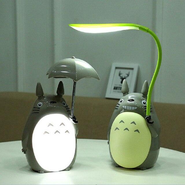 Kawaii Cartoon  Totoro Lamp 3 Choice Rechargeable Table Lamp Led Night Light  Reading for Kids Gift Home Decor Novelty Lightings
