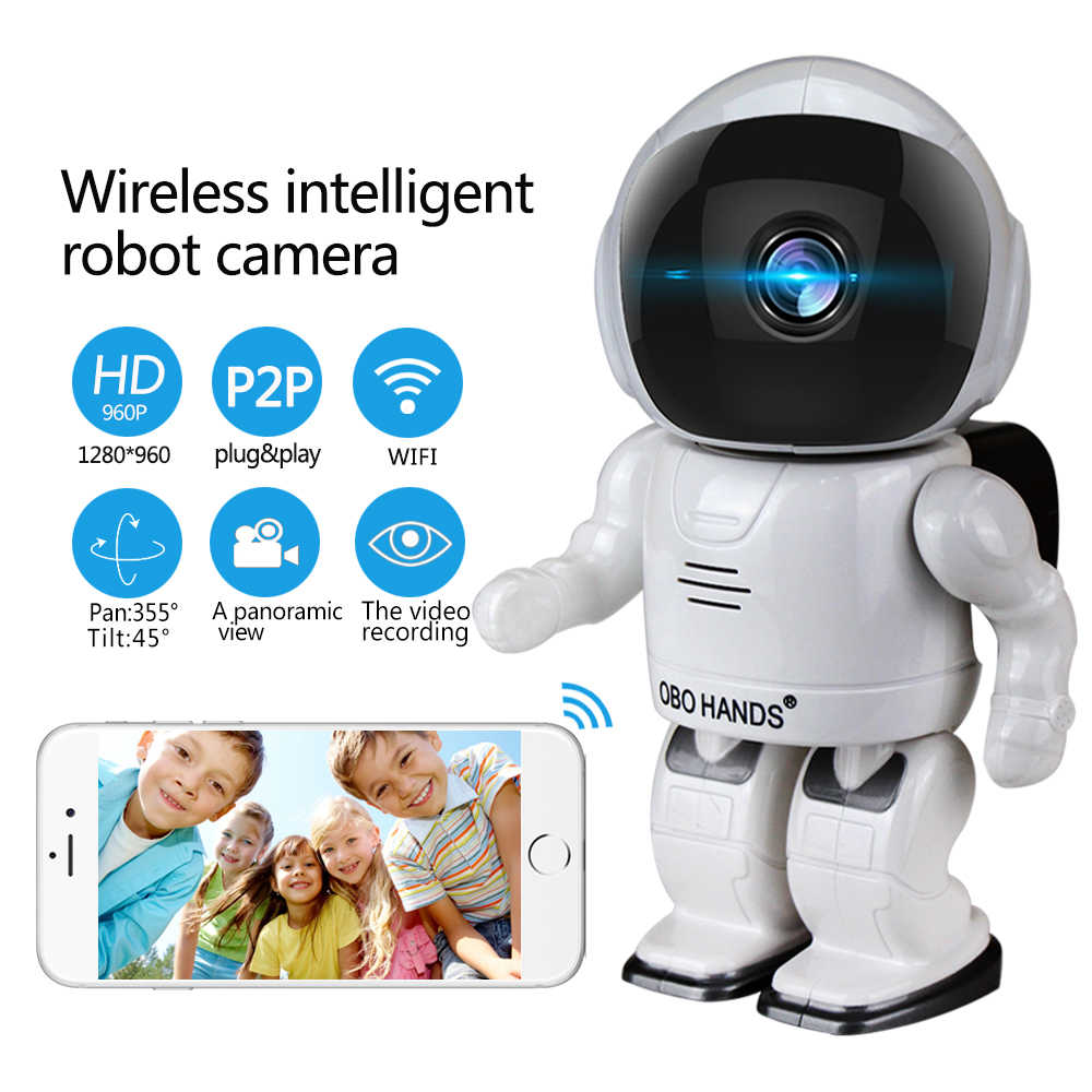 Robot camera Wifi 960P 1.3MP HD Wireless IP Camera PTZ Two Way Audio P2P Indoor Night Vision Wi-fi Network Baby Monitor Security wifi ip camera 960p hd ptz wireless security network surveillance camera wifi p2p ir night vision 2 way audio baby monitor onvif