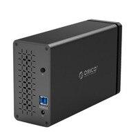 ORICO NS200U3 BK 2 Bay USB 3,0 HDD док станция Поддержка 20 ТБ хранения 5 Гбит инструментов большой Ёмкость HDD корпус