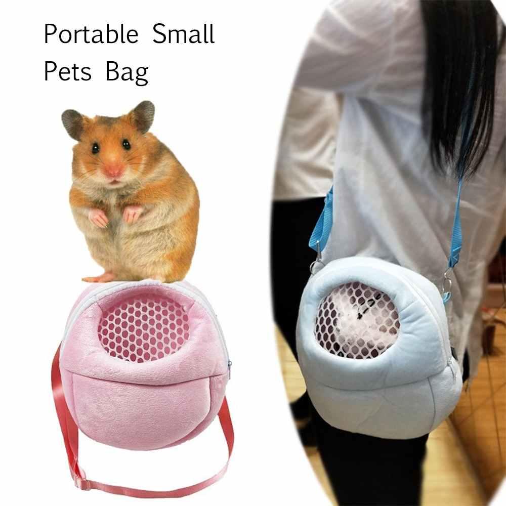 المحمولة صغيرة الحيوانات الأليفة حقيبة القنفذ الهامستر تنفس شبكة حمل حقيبة الحيوان في الهواء الطلق حقائب حقيبة السفر ل الهامستر