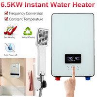 Electric Tankless Instant Water Heater 6500W 220V Temperature Bathroom Self checking Automatically Safety White Thermostat LCD