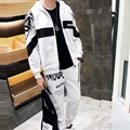 2016 Autumn Fashion Mens Hoodies and Sweatshirts Casual Print Sportswear Zipper Mens Tracksuit Set Cool Suits
