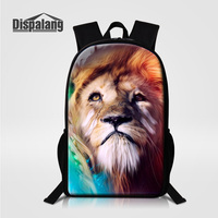 Dispalang Zoo Animal Lion Print Backpack For Teenagers Boys Large Capacity Multifunction Rucksack For Student Mochilas