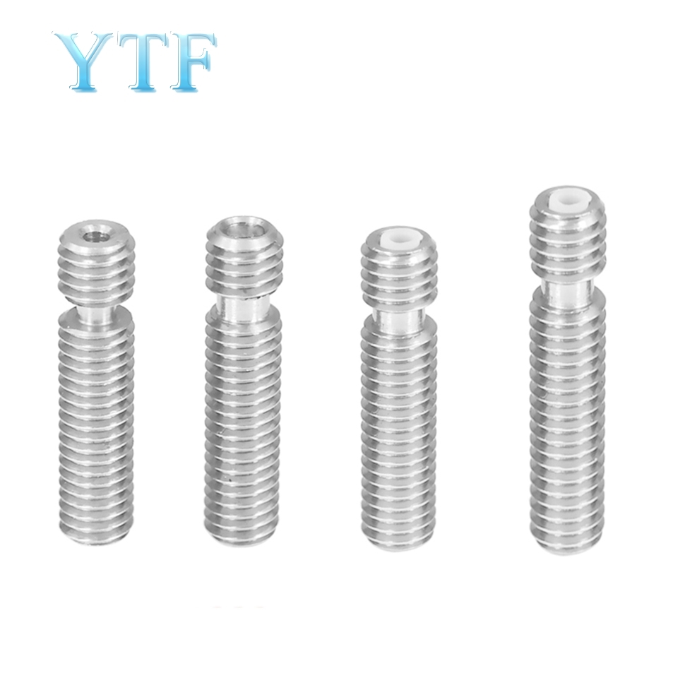 Stainless Steel Throat M6*26/3mm Threaded For Extruder Hot End 3D Printers Parts With Tube 1.75mm 3.0mm Filament Part