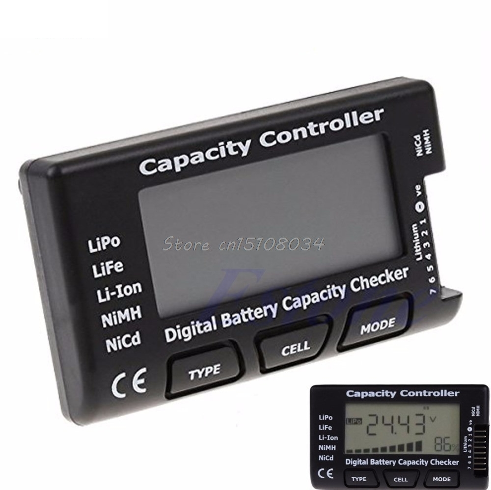 Digital Battery Capacity Checker RC CellMeter 7 para LiPo LiFe Li-ion NiMH Nicd S08 al por mayor y DropShip