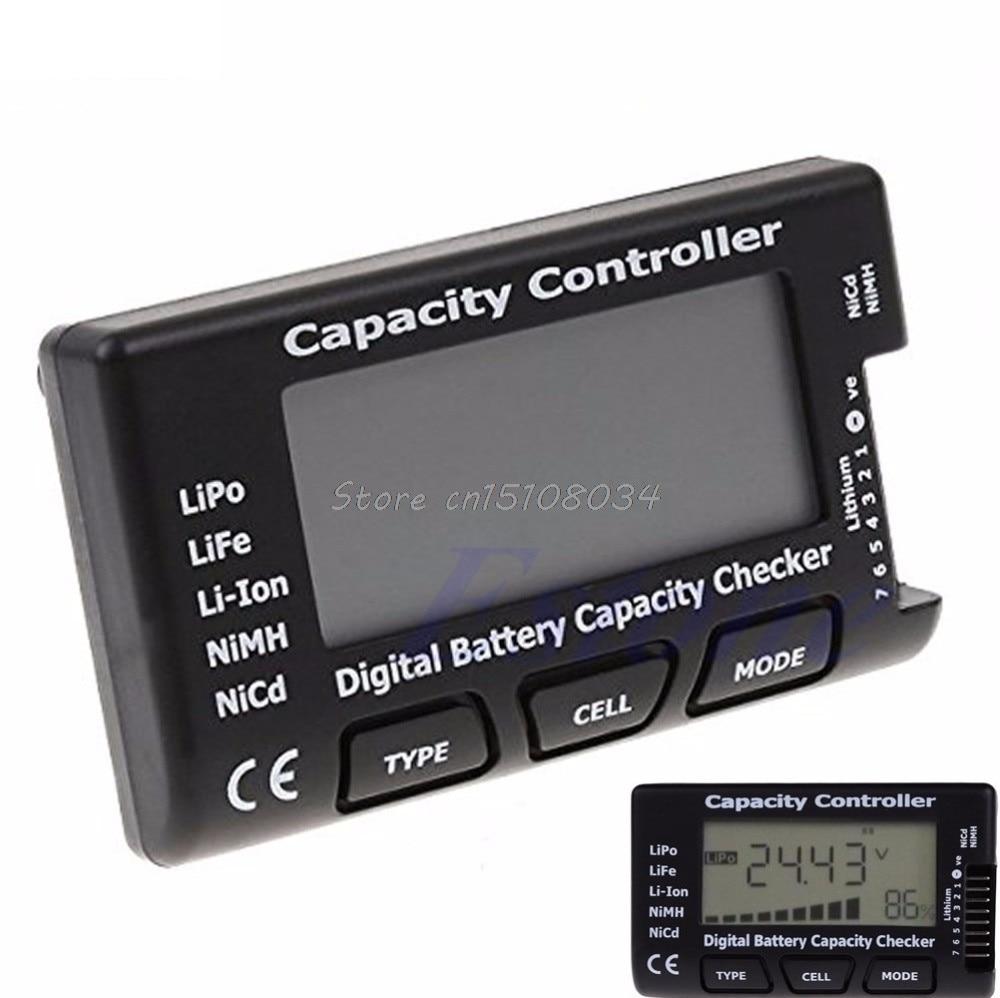 Digitális akkumulátor kapacitás-ellenőrző RC CellMeter 7 LiPo LiFe Li-ion NiMH Nicd S08 nagykereskedelem és DropShip