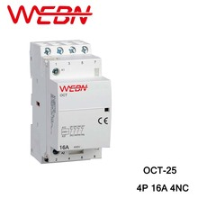 OCT-25 Series Automatical AC Household Contactor 220V/230V 50/60Hz 4P 16A 4NC Four Normal Close Contact Din Rail