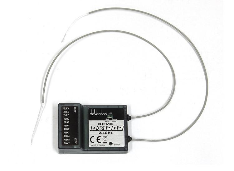 F09071 Walkera DEVO RX1202 12 Channel Receiver 2.4Ghz 12CH For Walkera DEVO Transmitter walkera devo f12e fpv transmitter 5 8ghz 12ch image monitor