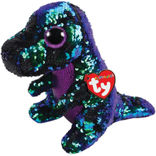 """Pyoopeo Ty Flippables 6"""" 15cm Crunch the Dinosaur Plush Regular Stuffed Animal Dragon Collection Doll Toy with Heart Tag"""