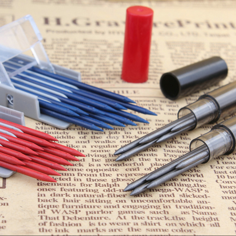 Super coarse pencil lead 2mm pencil lead HB / 2B / 3B / 4B red / blue pencil 2.0 Refill School Supplies 2 pcs lot stabilo 7880 mechanical pencil refill 1 4mm lead hb hardness smoothly writting pencil refill