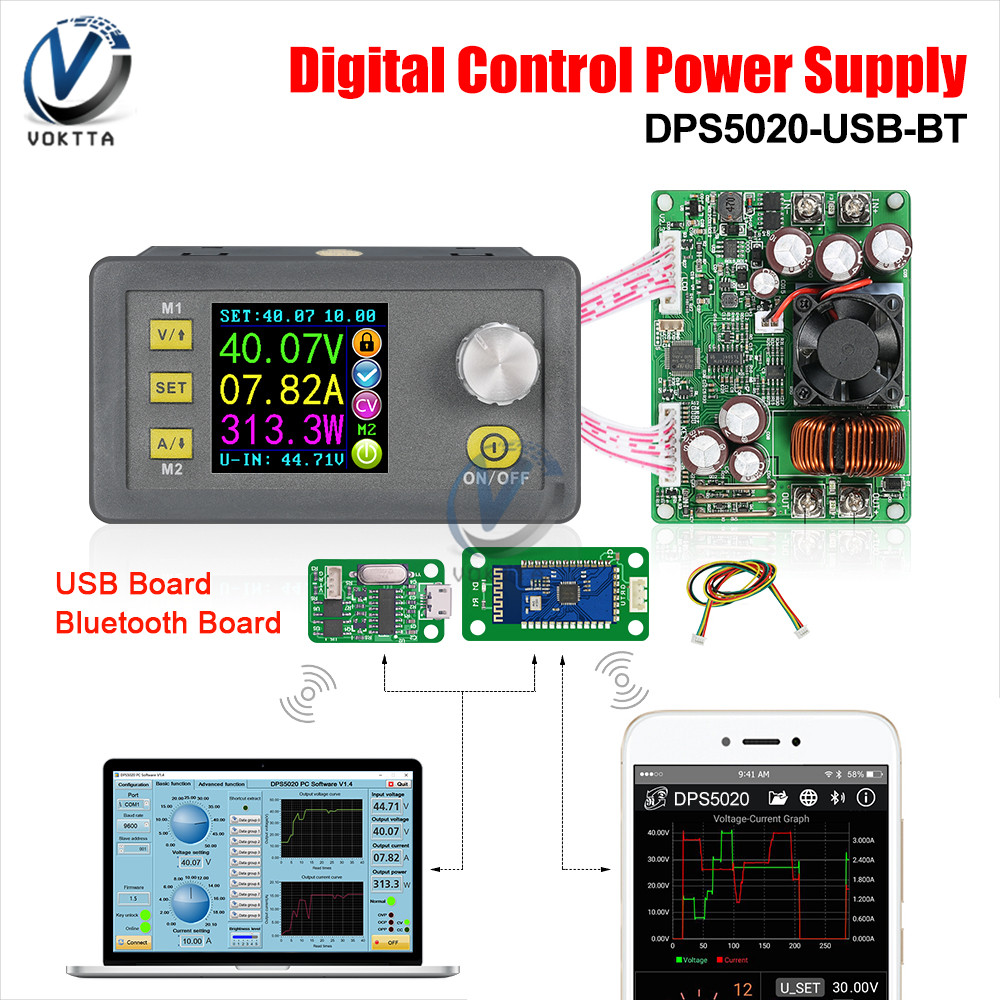DPS5020 50V 20A Constant Voltage Current DC-DC Step-Down Communication Power Supply Buck Voltage Converter Digital LCD Voltmeter