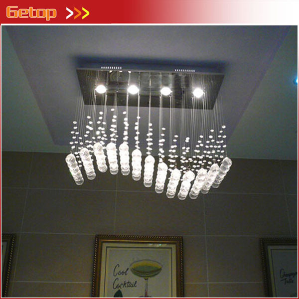 Best Price Wave Shaped K9 Crystal Chandeliers LED Hanging