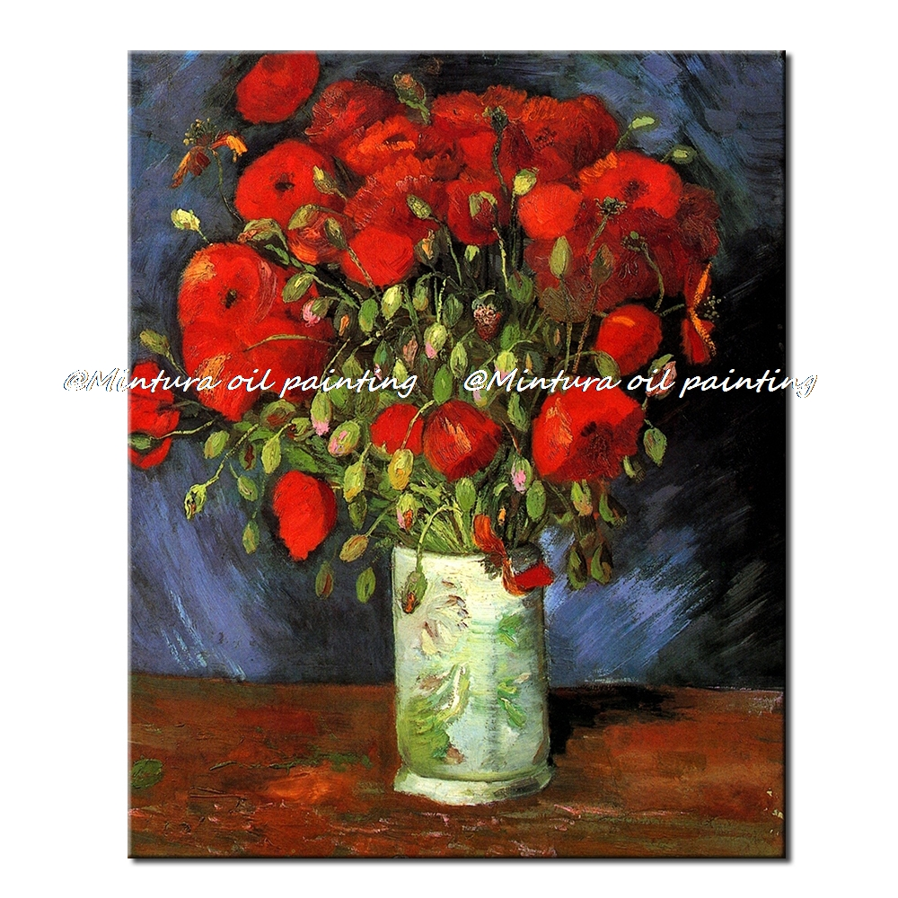 Online Shop Red Poppy Of Vincent Van Gogh Handmade Reproduction Hq
