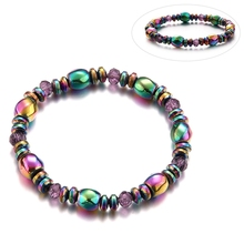 Lover Beauty Colorful Twisted Hematite Health slimming Bracelets Jewelry magnetic Bangles charm bracelets For Women font