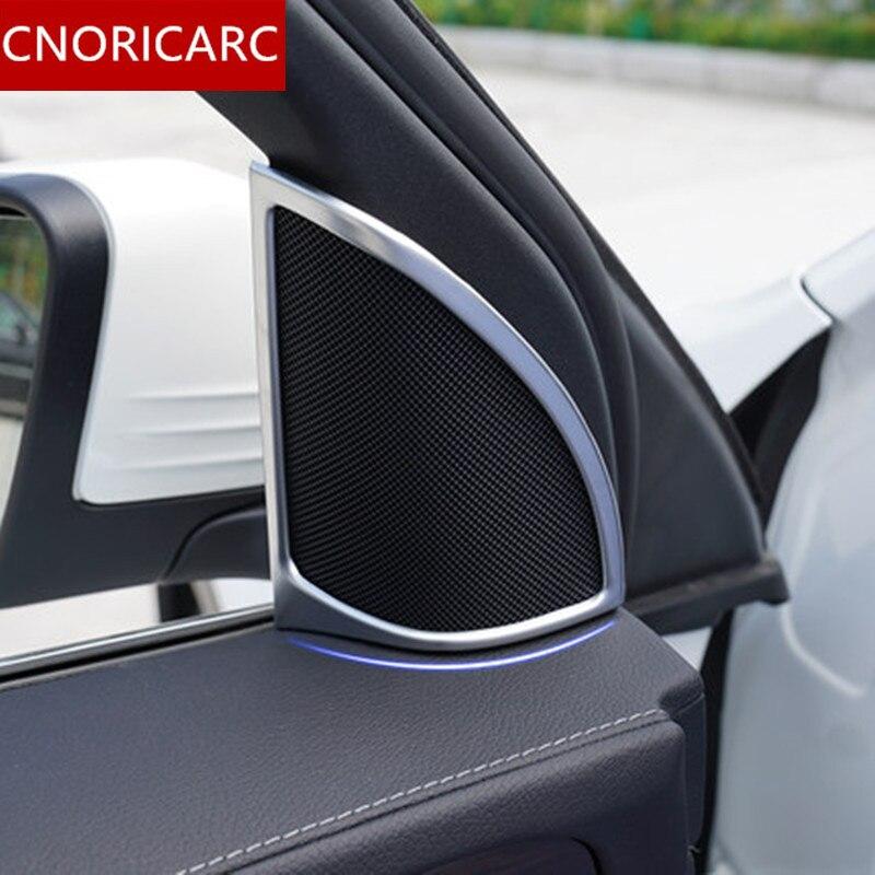 Cnoricarc Sportello D'auto Tromba Decorazione Cornice Della Copertura Trim 2 Pz Per Mercedes Benz Glc X253 260 200 300 2016-17 Chrome Abs Horn Trim