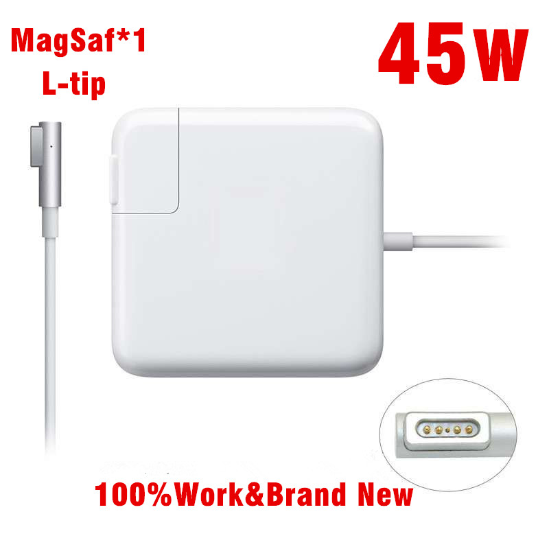 Replacement Magnetic L-tip 45W Laptop MagSaf* Power Adapter Chargers For Apple MacBook Air 11'' 13'' A1304 A1369 A1370 A1374 brand new high quality 45w l tip magsafe power adapter charger with logo for macbook air a1244 a1374 a1304 a1369 a1370 a1377