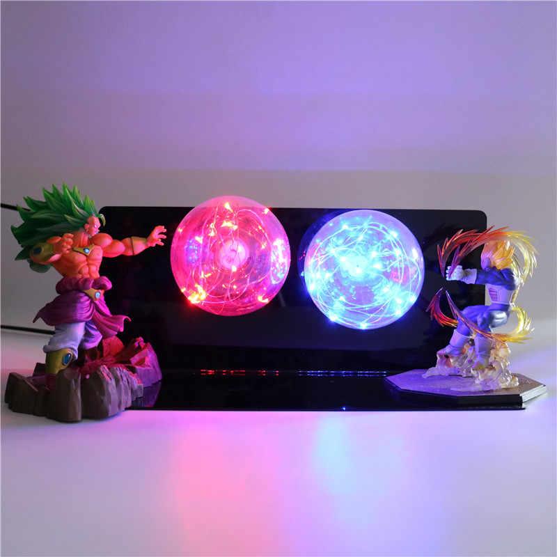Dragon Ball Super Saiyan Figuras de Ação Da Lâmpada Luz CONDUZIDA Da Noite Do Bebê Luzes Modelo de bonecas DIY Anime para Crianças Brinquedos para Crianças Candeeiro de Mesa