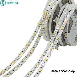 Dc12v 5050 tira conduzida impermeável rgbw flexível conduziu a luz 60led/m impermeável ip20/ip65 rgb + branco/+ fita branca morna para a decoração