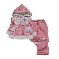 Baby Girl Clothing Sets Winter 2016 Long Sleeve Coat Pants Girls Baby Clothing Set Polka Dot