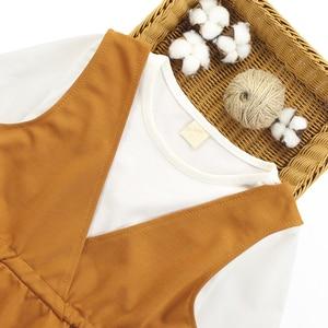 Image 3 - Conjunto de ropa para niña, chaleco + Camisa lisa + Pantalones, ropa escolar para niña, conjunto de 6, 8, 10, 12, 13 y 14 años, 3 uds.