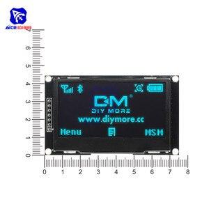 Image 5 - Модуль ЖК дисплея diymore на органических светодиодах 2,4 дюйма, 2,42x64, 128 дюйма, SSD1309, 12864, 7 контактный последовательный интерфейс SPI/IIC I2C для Arduino UNO R3 C51