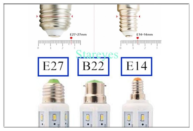 20 шт 12 W 42 светодиодный 5630 5730 SMD E27 E14 B22 светодиодный Кукуруза лампочка лампа светодиодный освещение точечная лампа Теплый/Холодный белый