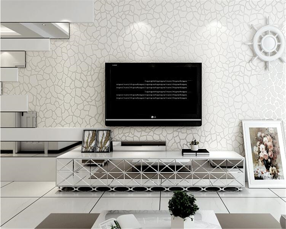 beibehang White stone clothing store gray fashion simple modern wallpaper 3D living room papel de parede wall papers home decor