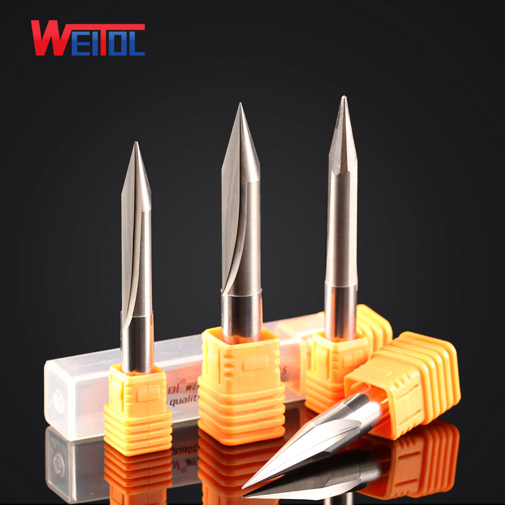 Weitol 1pcs 8mm and 10mm two flutes straight engraving bit V shape double flutes straight bit for cutting wood 2pcs two flutes straight v bit plywood