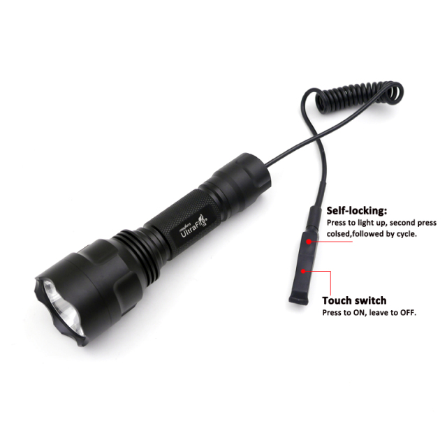 Hunting Flashlight CREE XM-L2 U3 LED lanterna Torch 1 mode C8 Flashlight Torch with Dual mode Remote Pressure Switch lanterna