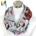 Mujeres de pañuelo famoso British atracciones impreso viscosa bufanda larga, ocasional London Covent Garden collar envío gratis