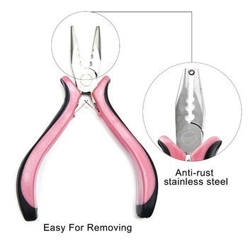 Neitsi Professional 3 Holes Pliers For Hair Extensions Hair Styling Micro Ring Pliers Pink Color 1pcs/pack pliers and pulling needle hair extensions pliers professional hair extension tools free shipping