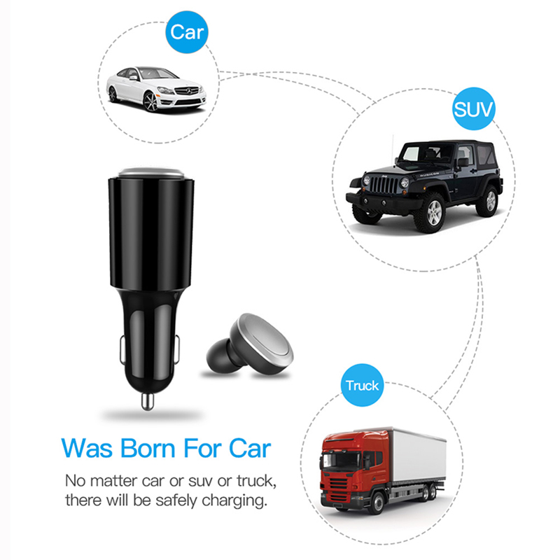 V1 Car bluetooth headphones Car charging business smart call bluetooth Wireless earphone with Microphone in Bluetooth Earphones Headphones from Consumer Electronics