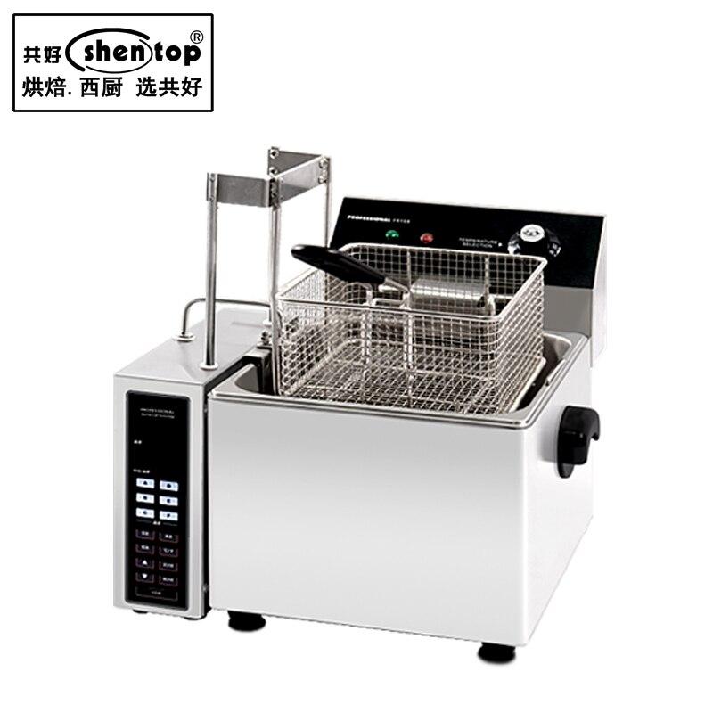 Shentop STWA-AZ8L automatic lifting fryer machine table fryer machine electric fryer machine for free shipping