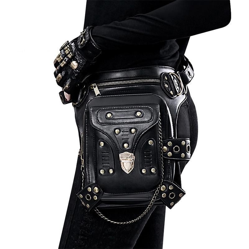 Steampunk Vintage Bag Steam Punk Retro Rock Gothic Retro bag Goth Purse Shoulder Waist Bags Packs Victorian Style Women Men leg new 2016 men s printed jeans punk style gothic painted cotton straight leg cool jeans for young men