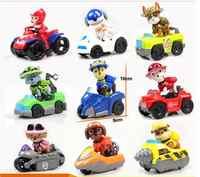 9 unids/set juguete de perro con patas para chico, rastreador de coches, cachorro, Sit In The Car, figuras de acción con Shield, Chico, juguete para niños
