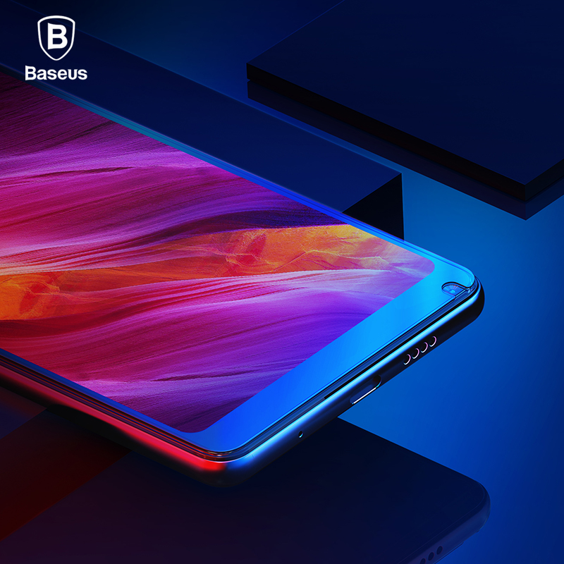 Baseus 0.2mm 9H Full Coverage Tempered Glass For Xiaomi Mix 2S Ultra Thin Screen Protector Glass Front Protective Glass Film