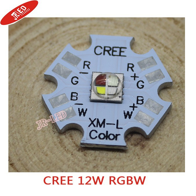 FREE SHipping Cree XLamp XM-L RGBW RGB Vit Färg 12w LED Emitter 4-Chip 20mm Star PCB Board